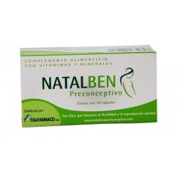 Natalben Preconceptivo 30 Cápsulas, Complemento Alimenticio