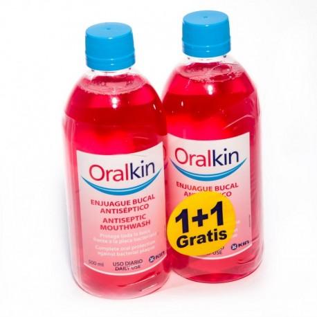 Oral Kin DUPLO Enjuague Bucal 500 ml + GRATIS 500ml.