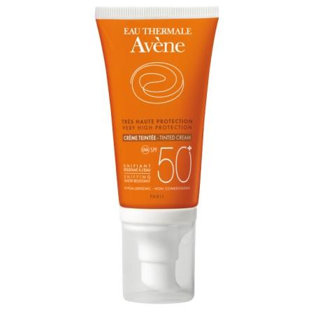 Avene Crema Solar SPF 50+ Pieles Sensibles, Coloreada 50 ml