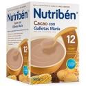 Nutriben Papilla Cacao y Galletas María +12 meses, Envase 500 g