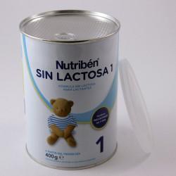 Nutriben SIN LACTOSA 1 Fórmula sin Lactosa para Lactantes 0+ mes, Lata 400 g