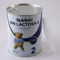 Nutriben SIN LACTOSA 2 Fórmula sin Lactosa para Lactantes 6+ meses, Lata 400 g