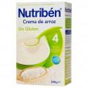 Nutriben Papilla +4 meses Crema de Arroz SIN GLUTEN, envase 300 g