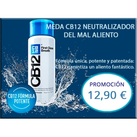 Meda CB12 Original. PROMOCIÓN Neutralizador del Mal Aliento MENTA 250 ml