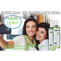 Everclean Isdin PROMOCIÓN Gel Purificante 240 ml, Pack 2 Ud.