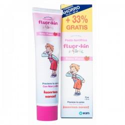 Flúor Kin Infantil Pasta Dentífrica 100ml + GRATIS 50 ml. Sabor Fresa
