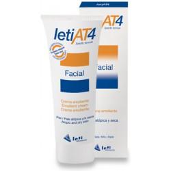 Leti AT4 Crema Emoliente Facial, Bebé Piel Atópica, 50 ml.