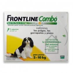 Frontline Combo Spot-On Perro 2-10 Kg. 3 pipetas