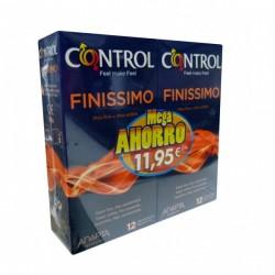 Control Preservativo Finissimo PACK Mega Ahorro 12+ 12 Ud.