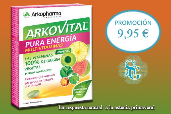 ARKOVITAL PURA ENERGIA 30 COMP. MEJOR PRECIO WEB 8,95€