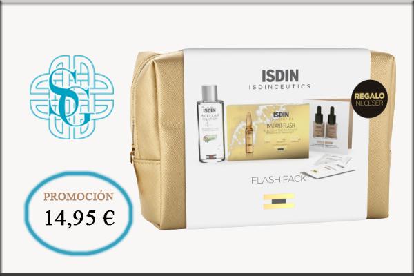 Isdinceutics neceser ampollas Instant flash 5 u +Agua micelar